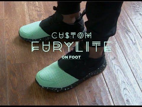 e68d50e7a9973d Custom COA inspired Reebok Furylite - onfoot edition - YouTube