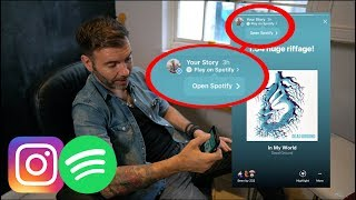 HOW TO ADD A SPOTIFY PLAY BUTTON TO AN INSTAGRAM STORY - TUTORIAL