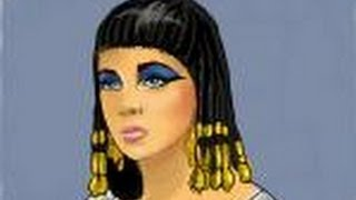 How to draw Cleopatra