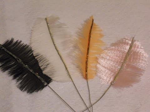 C mo hacer plumas de fantas a para decorar o hacer for Manualidades con plumas