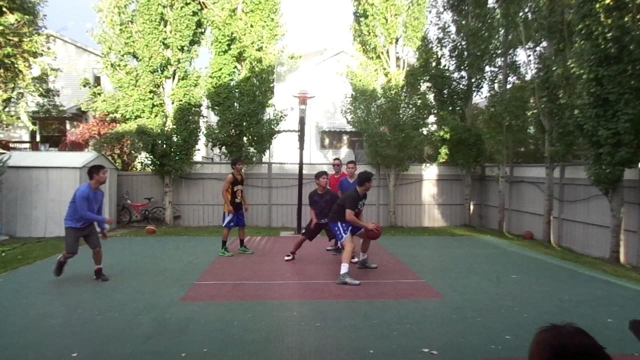6calgary backyard basketball game 9 10 17 16 youtube