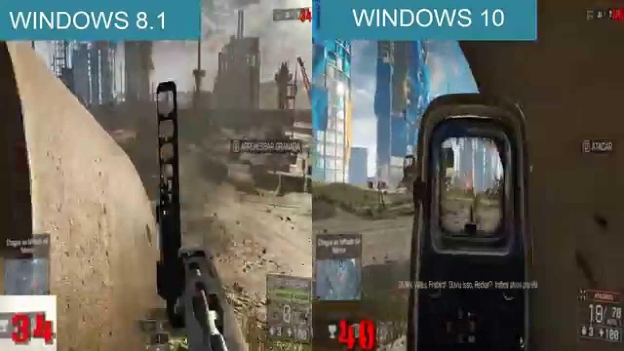 Battlefield 4 Windows 8 1 Vs Windows 10 Youtube