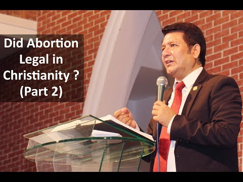 Is Abortion Legal in Christianity (part 2) (Rev Dr Jamil Nasir )