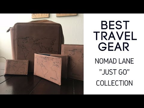 Best Travel Gear: Nomad Lane Tech Organization Case, Passport Holder, Wallet and Luggage Tag