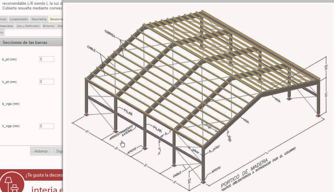 C lculo de p rticos de madera e struc youtube for Galpon de madera para jardin