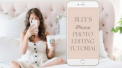iPhone Photo Editing Tutorial | Jillian Harris