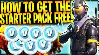 "HOW TO GET ""NEW STARTER PACK"" FREE ROGUE SKIN + VBUCKS 