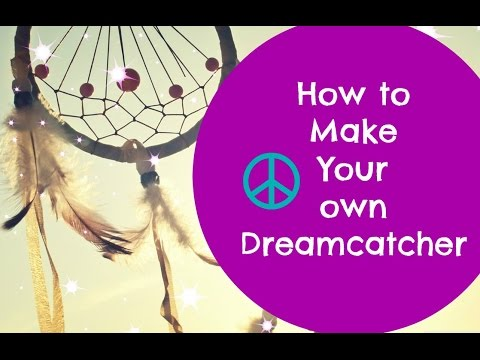 How to make a dream catcher dream catcher tutorial youtube for How to make dreamcatcher designs