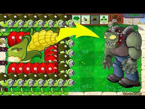 99 Gatling Pea Vs Cob Cannon Vs 99 Gargantuar - Plants Vs Zombie Battlez