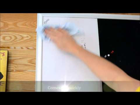 How To RESTORE A Damage Dry Erase Board Whiteboard
