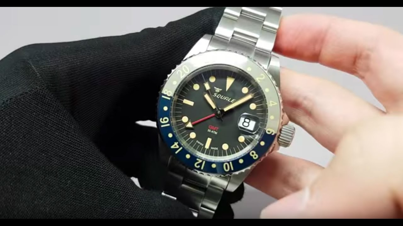 two dial watch gmt atmos with a tropic watches squale premium new youtube ceramica