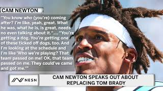 Cam Newton Speaks Out About Potentially Replacing Tom Brady