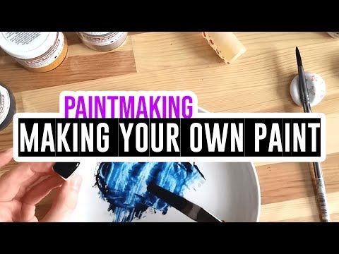 Making your own watercolor paints - pt1 (Experiment!)