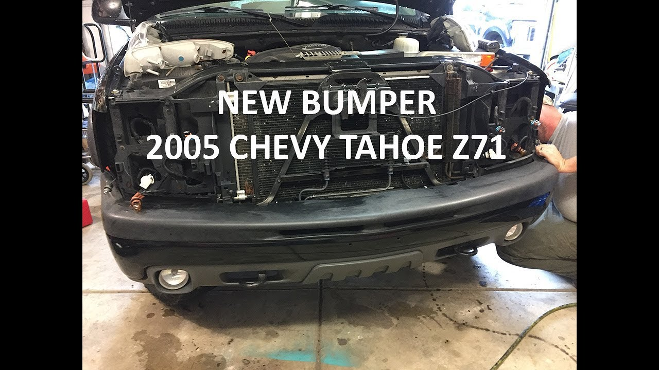 New Front Bumper Install on my 2005 Chevy Tahoe Z71 - YouTube