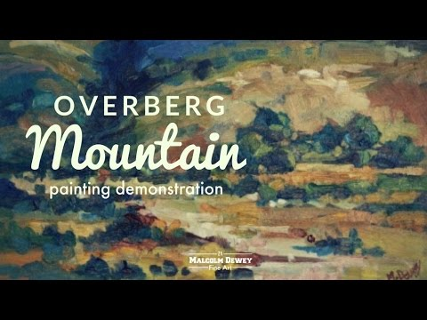Overberg Mountain Oil Painting Demo