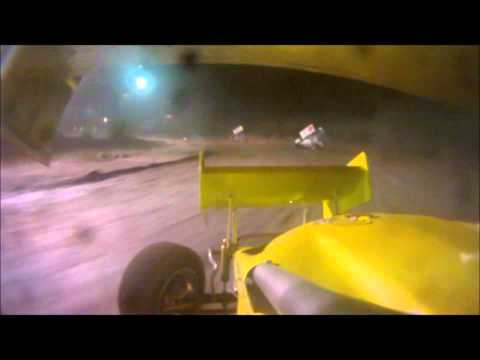 Clay Dow In-Car SCoNE Heat + Feature at Canaan Dirt Speedway 8-31-2012