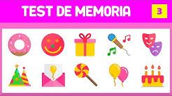 TEST PARA EJERCITAR LA MEMORIA - PRUEBA DE MEMORIA - AUMENTAR LA CONCENTRACIÓN - MEMORIA VISUAL