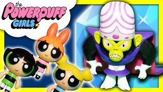 POWER PUFF GIRLS Cartoon Nework + Disney FROZEN Elsa  MoJo JoJo steals Jewels New Toys Video