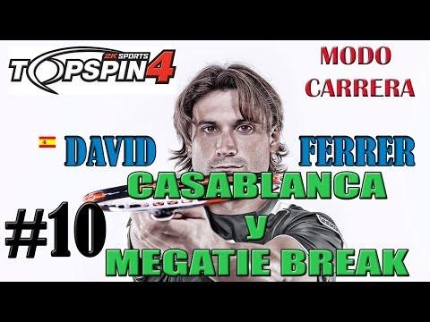 TOP SPIN 4 | David Ferrer | Modo Carrera #10 Casablanca y Mega-tie break