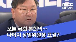 오늘 국회 본회의…나머지 상임위원장 표결? (2020.…