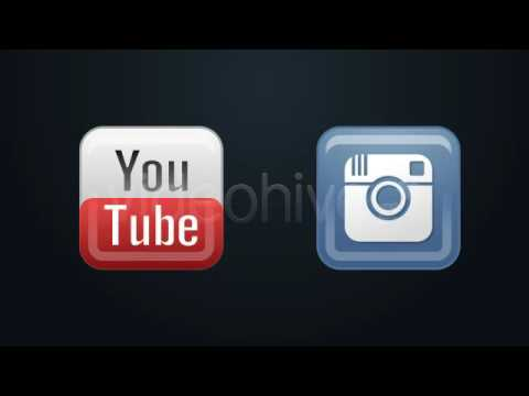 Social Media Icons Pack-After Effects Template Videohive