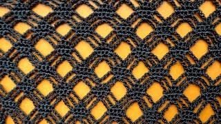 Ажурный узор вязания Сеточка Open work crochet pattern 79