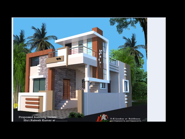 25X40 FT BEST HOUSE PLAN AND FRONT ELEVATION