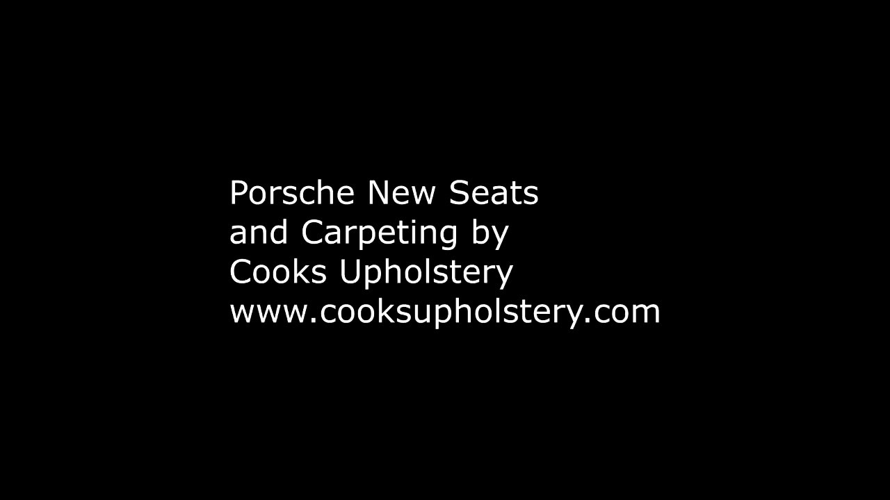 Porsche 911 New Seats By Cooks Upholstery  Cooks Upholstery 00:40 HD