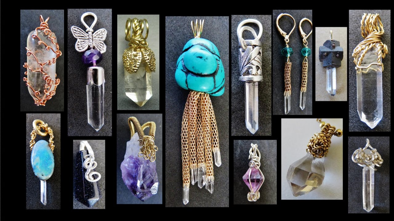 10 crystal pendants design ideas liz kreate youtube mozeypictures Gallery