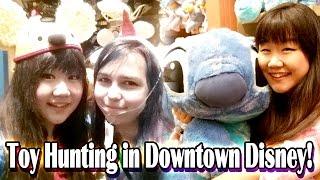 TOY HUNTING in Downtown Disney with RadioJh Audrey! - Stitch, Stitch, Stitch EVERYWHERE!!