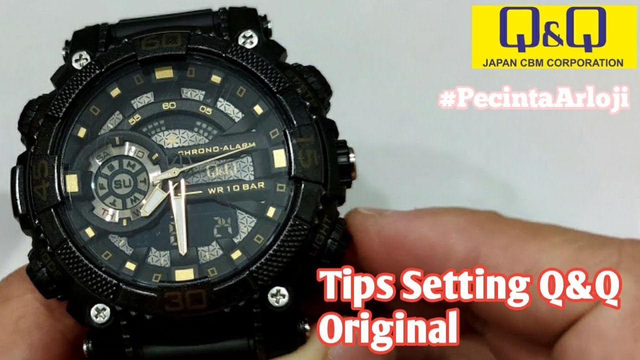 Tips Setting Jam Tangan Q Q Digital Analog Original Pecintaarloji Youtube