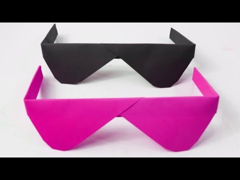 DIY Easy Origami Crafts 2019 | How To Make Sunglasses With Paper Step By Step