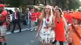 Repeat youtube video Crazy Netherland Fans Frustrate and Molest Ukraine Female TV Reporter