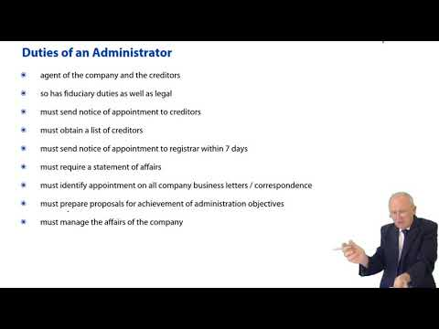 ACCA F4 Global - Company Law: Liquidations -  Administrator Appointed by the Court