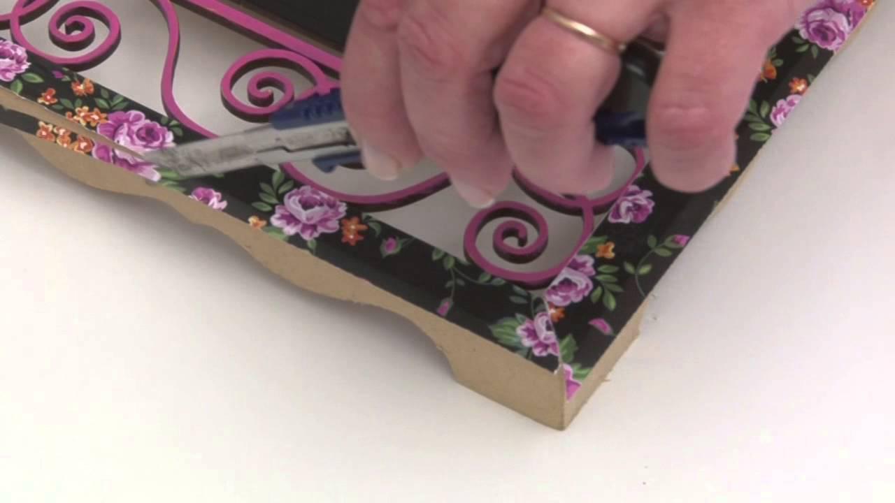 Como aplicar laminas de decoupage y pintura para pizarron - Laminas para hacer cuadros ...