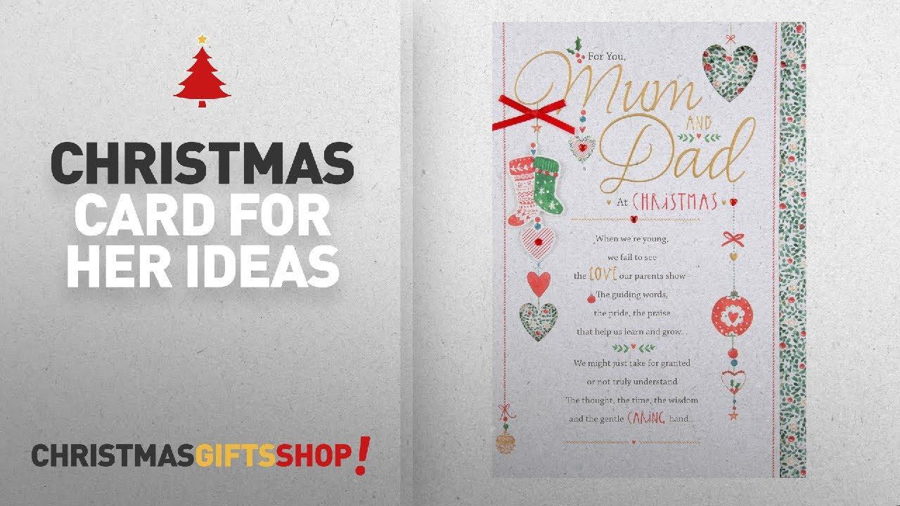 Top 10 Christmas Card For Her Ideas: Hallmark Mum & Dad Christmas ...