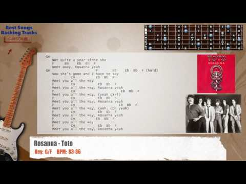 Best Songs Backing Tracks BSBT: Rosanna - Toto Guitar Backing Track ...