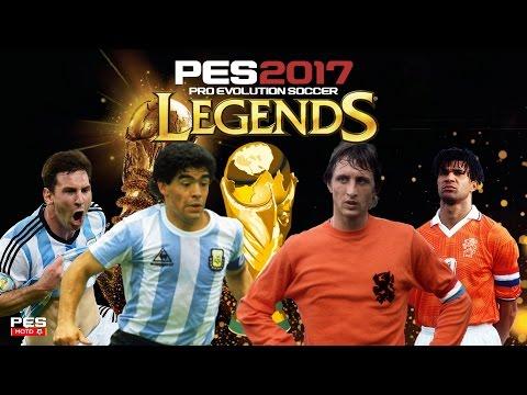 PES 2017 WORLD CUP LEGENDS FINAL Classic Argentina vrs Classic Netherlands [4K] [60FPS]