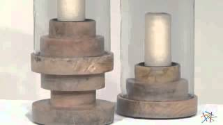 Imax Rings Wood Hurricane Candle Holder - Product Review Video