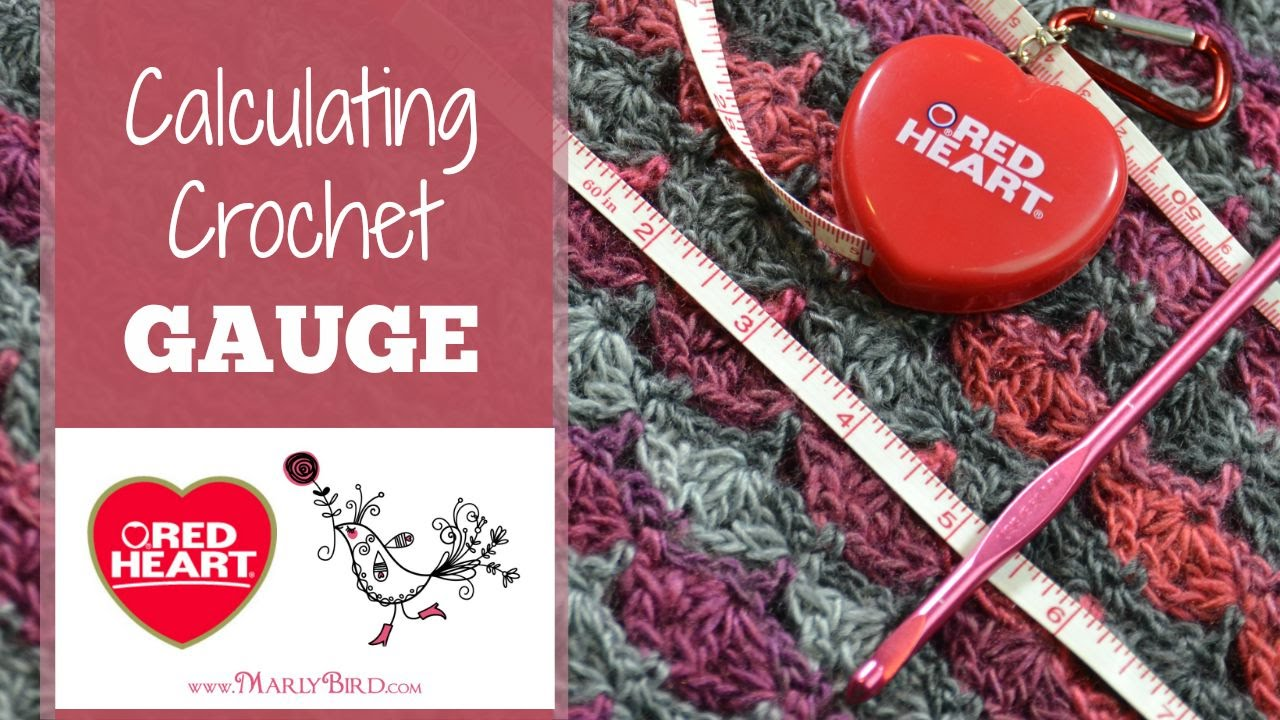 Crochet Gauge : Calculating Crochet Gauge - YouTube