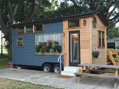 Utterly Charming Tiny House Built On Hgtv Youtube