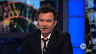 Paul McDermott interview on The Project (2012)
