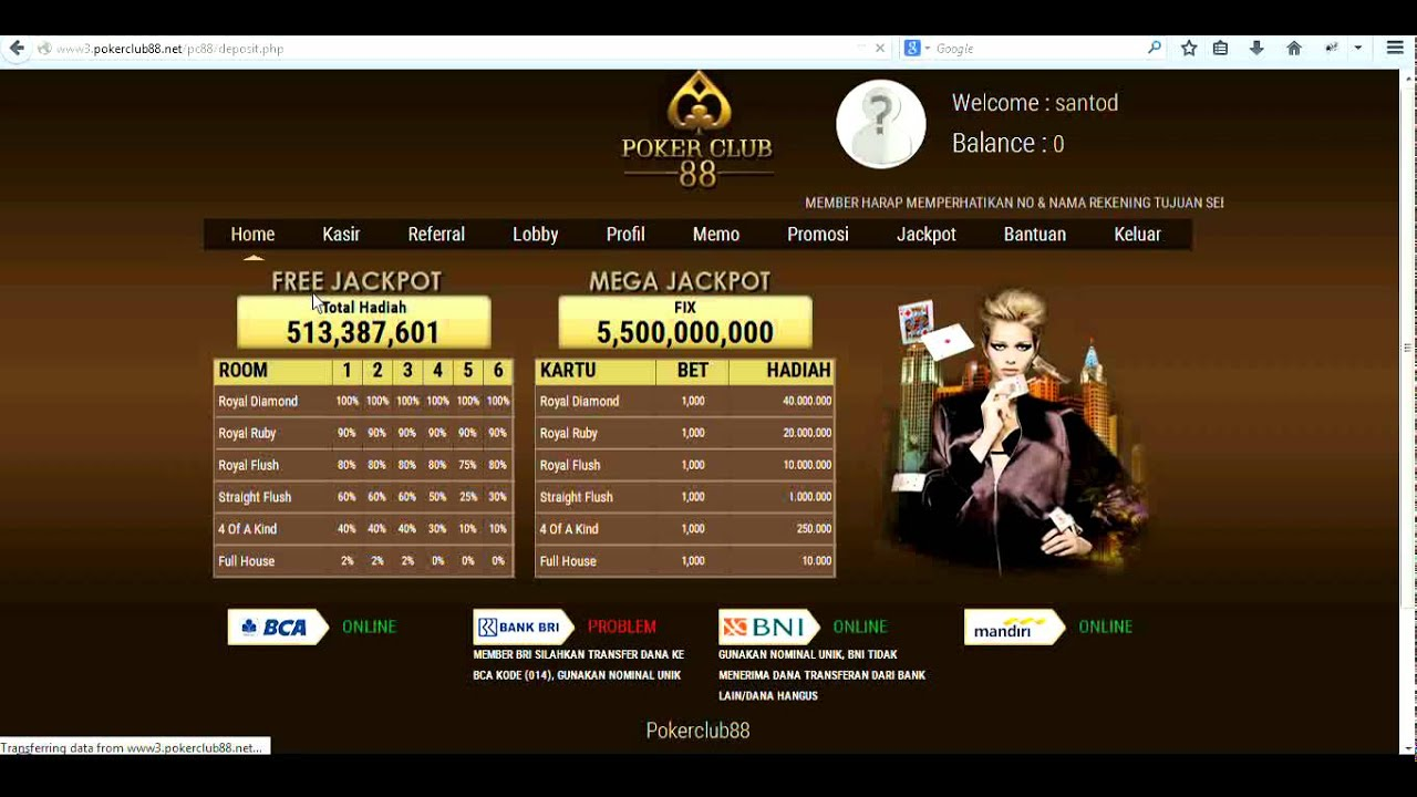 Cara Deposit PokerClub88 - YouTube
