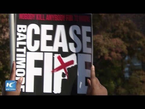 NOBODY KILL ANYBODY for 72 hours:  Baltimore's extravagant hopes