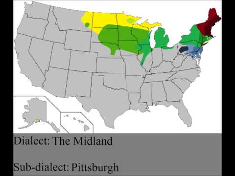 Map of English Dialects in the US
