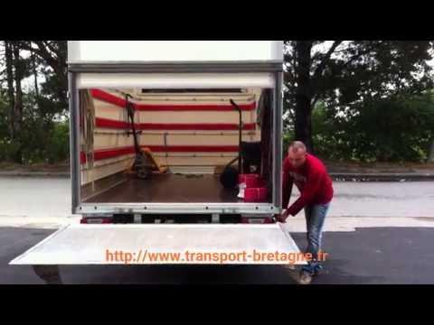 tge transport gwen express camion avec hayon youtube. Black Bedroom Furniture Sets. Home Design Ideas