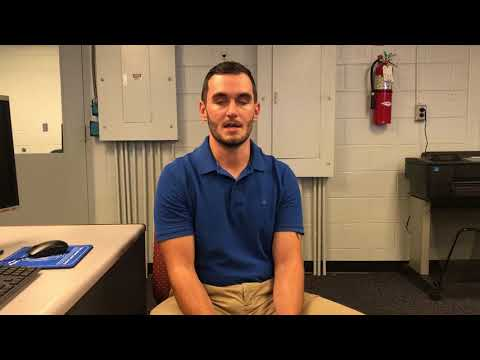Beaufort County Community College student Jacob Hering