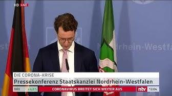 Live: Pressekonferenz aus NRW zur Corona-Lage.
