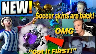 Streamers reacts to Soccer Skins BACK & *NEW* Ghost Portal back bling!