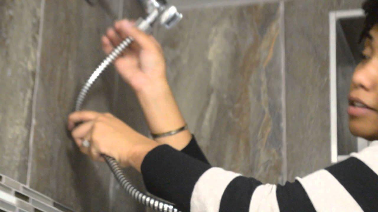 waterpik power spray hand held shower head